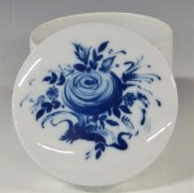 Lot 96: Rosenthal Studio-Linie Germany Blue Rose Romance Rhapsody Canister 4-1/2H