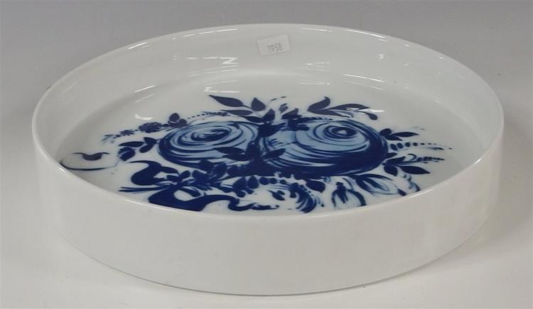 Rosenthal Studio-Linie Germany Blue Rose Romance Rhapsody Bowl, 10-1/4D