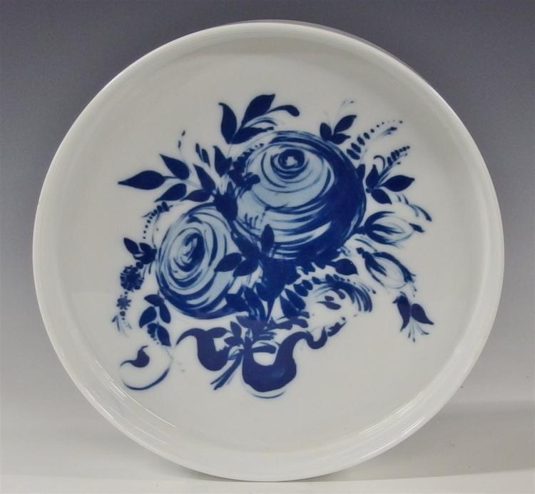 Lot 97: Rosenthal Studio-Linie Germany Blue Rose Romance Rhapsody Bowl, 10-1/4D