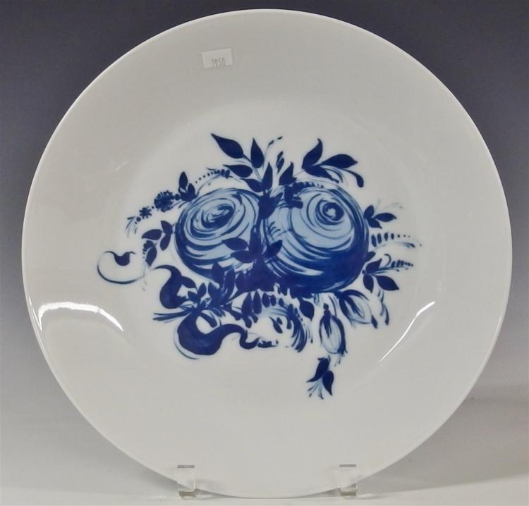 Rosenthal Studio-Linie Germany Blue Rose Romance Rhapsody Platter, Charger, 13D
