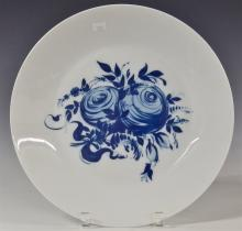 Lot 98: Rosenthal Studio-Linie Germany Blue Rose Romance Rhapsody Platter, Charger, 13D