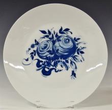 Lot 99: Rosenthal Studio-Linie Germany Blue Rose Romance Rhapsody Platter, Charger, 13D