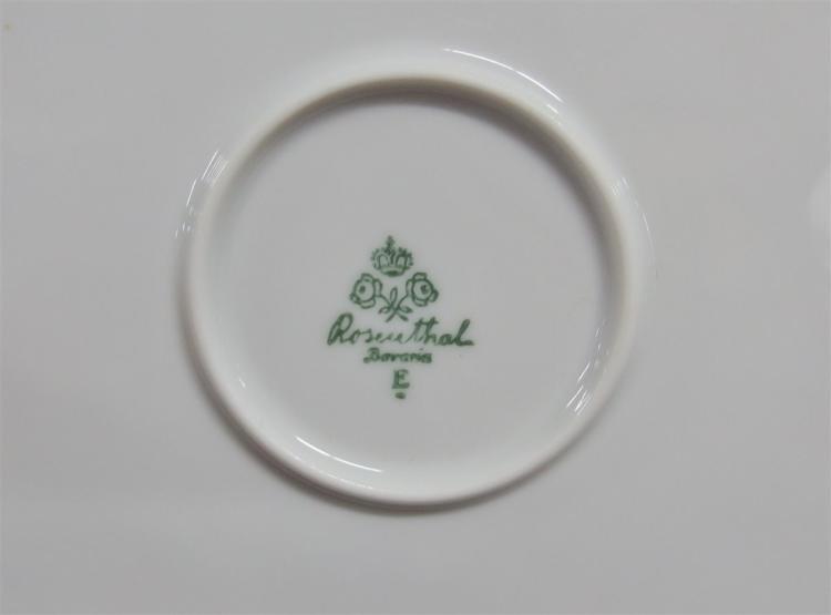 Lot 100: Ca. 1930 - 42 pc. Rosenthal Bavaria Octagonal Beaded Edge Tea Service Breakfast Set