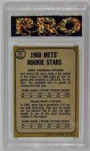 Lot 103: 1968 Topps Koosman / N. Ryan Rookie Stars Baseball Card, Pro Slab, Graded 10