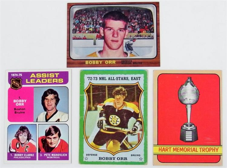 Lot of 4 - Hockey Cards, Bobby Orr