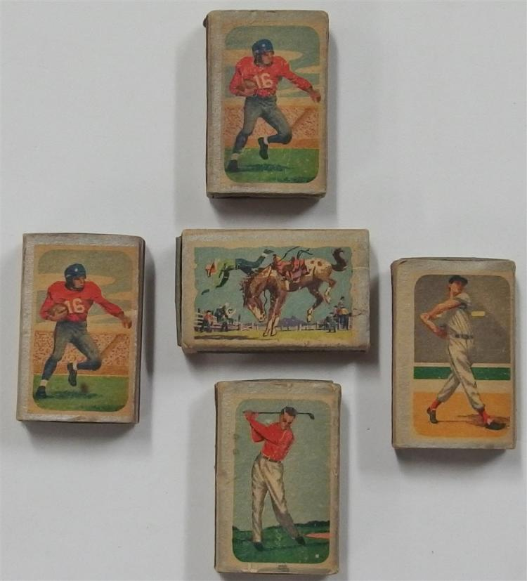 Lot of 5 - 1955 Ohio Blue Tip Sports Matchboxes