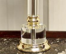 Lot 110: Modern Glass Lamp, 31H
