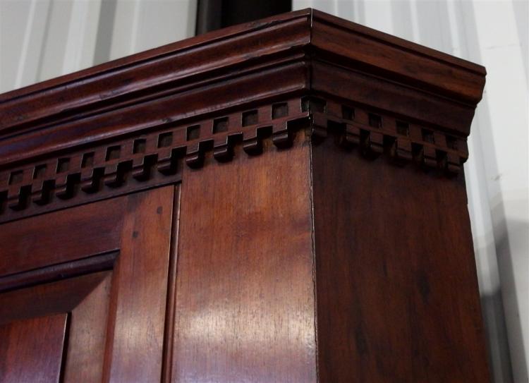 Lot 118: Late 1800's Early American Walnut Corner Cabinet, Handmade Pegged