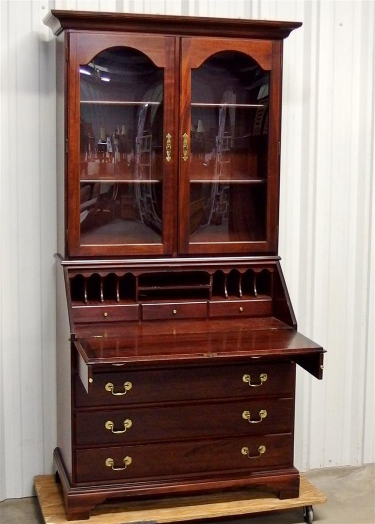 Lot 122: Slant Front Secretary, Cherry Finish