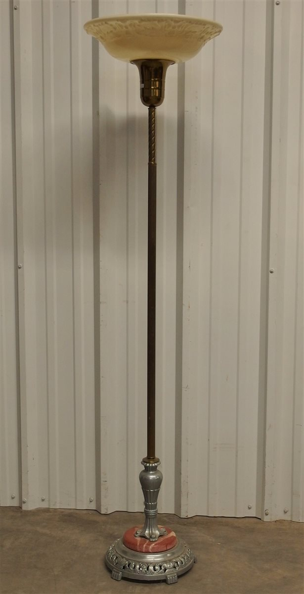 Antique Torchiere Floor Lamp, 65H
