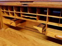 Lot 127: Vintage Solid Oak Roll Top Desk