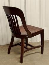 Lot 128: Oak Banker's Office Chair
