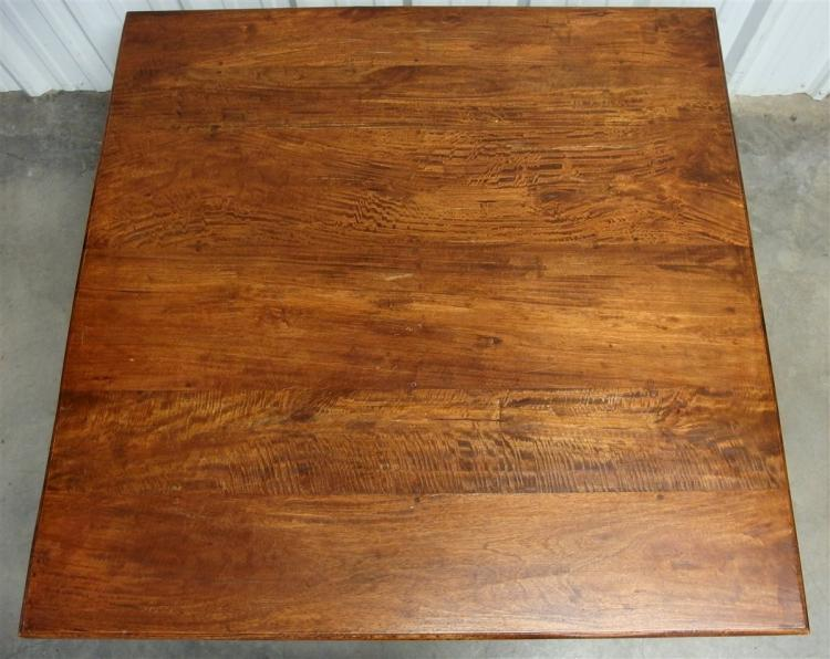 Lot 130: Large Square Wooden Coffee Table, 2 Drawers 54 x 55