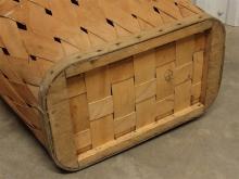 Lot 133: Vintage Split Oak Basket with Hinged Top, 20H