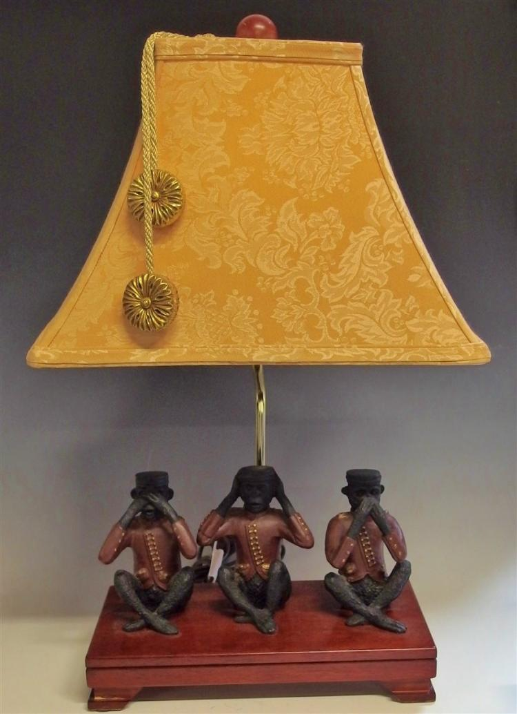 Monkey Lamp, See - Hear - Speak No Evil, 22-1/2H