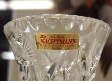 Lot 144: Nachtmann Germany Cut Crystal Trumpet Vase, 9-1/4H