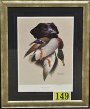 Lot 149: Ducks Unlimited 'Black Labrador' by James H. Killen, 24x30 Print