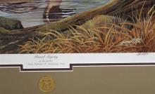 Lot 150: Ducks Unlimited 'Pintail Majesty' by Harold Roe, LE 155/4000, 29x34