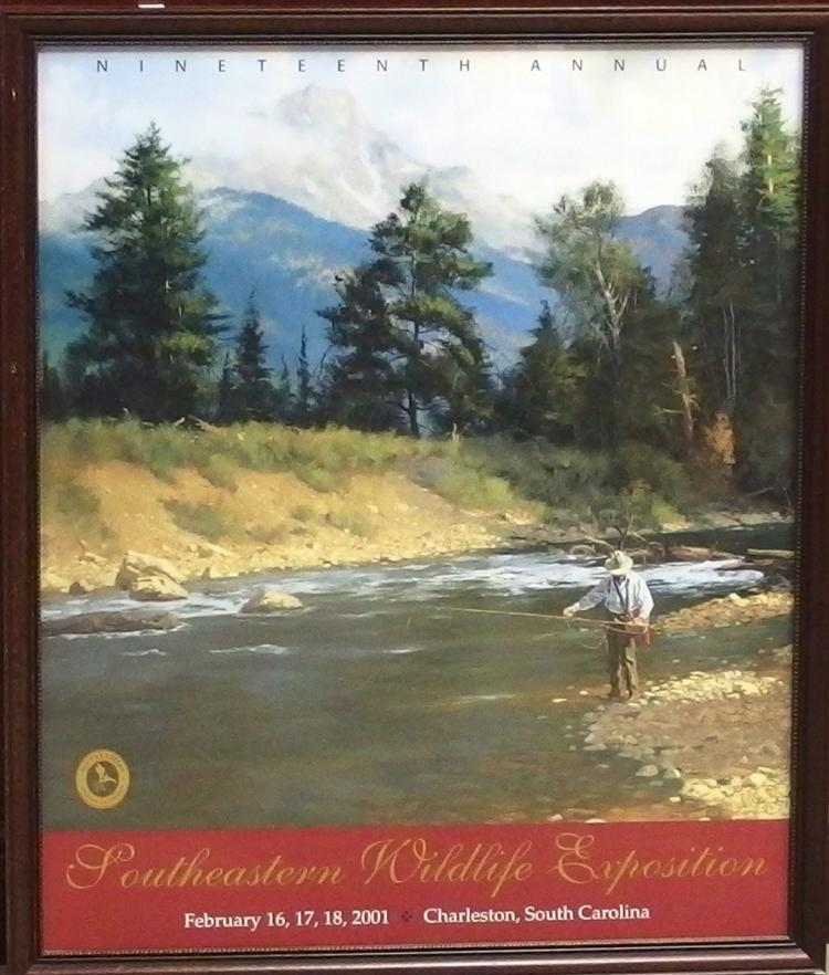 Southeastern Wildlife Exposition 19th Annual 2001 - Fly Fishing Print, 22x26