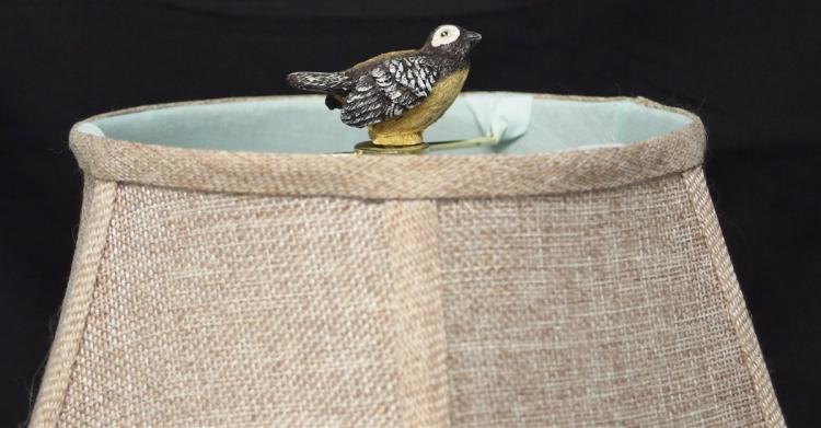 Lot 164: Bird House Lamp, 19H