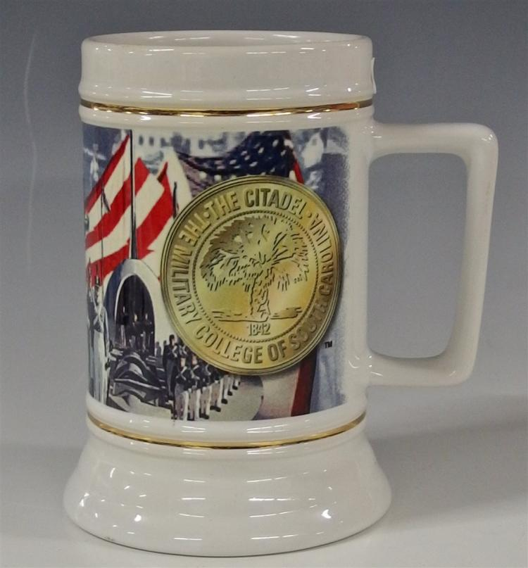 1997 The Citadel Military College of Charleston Beer Stein, Made in Thailand, 6-1/4H