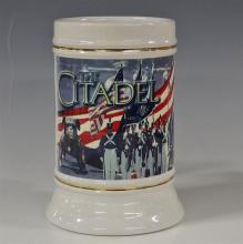 Lot 194: 1997 The Citadel Military College of Charleston Beer Stein, Made in Thailand, 6-1/4H