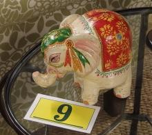 Lot 9: Polychrome Elephant Bank, 8""