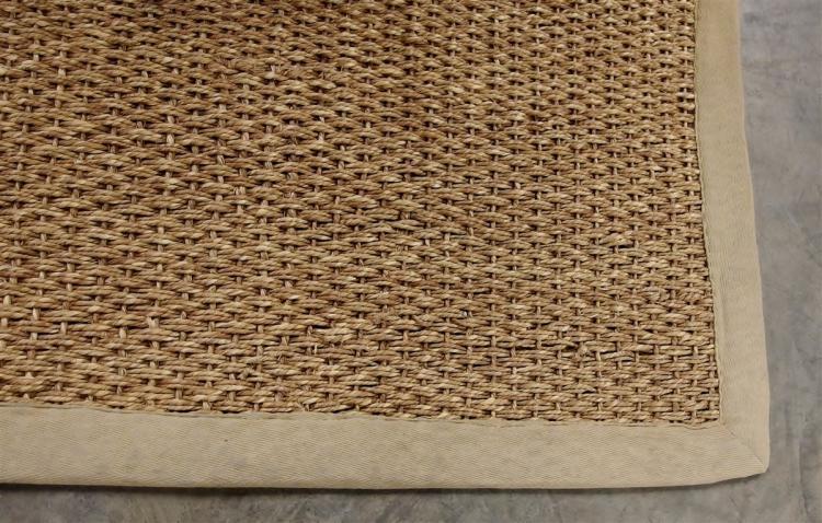 Lot 15: Large Natural Sisal Rug, 9 x 12'5