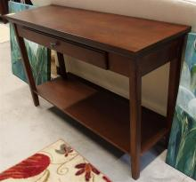 Lot 18: Sofa Table, One Drawer, Mahogany Finish 31H x 48W x 16D