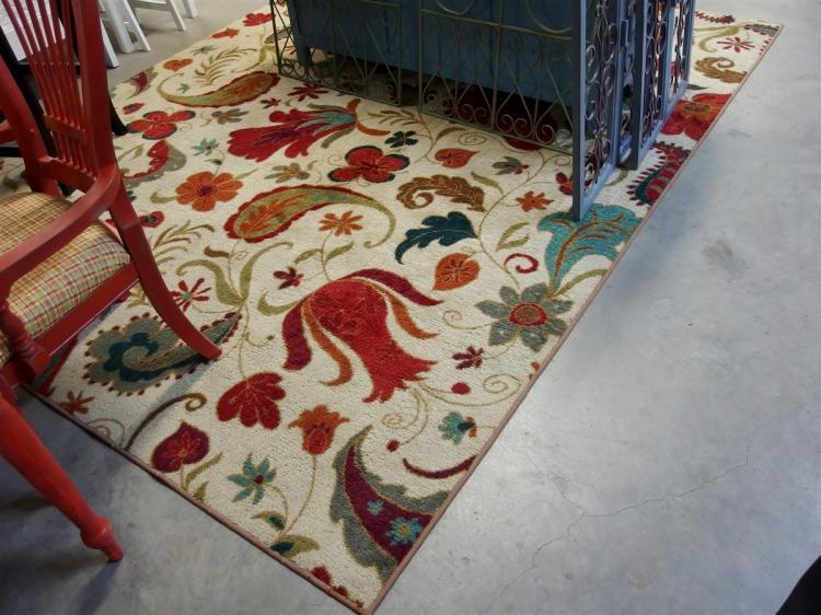 Lot 30: Multicolored Floral Area Rug, 8x10