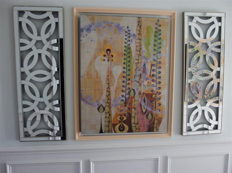 "Rex Ray ""Sticta"" Canvas Print 30x40, 2 Mirrored Panels, 44-1/2 x 15-3/4"