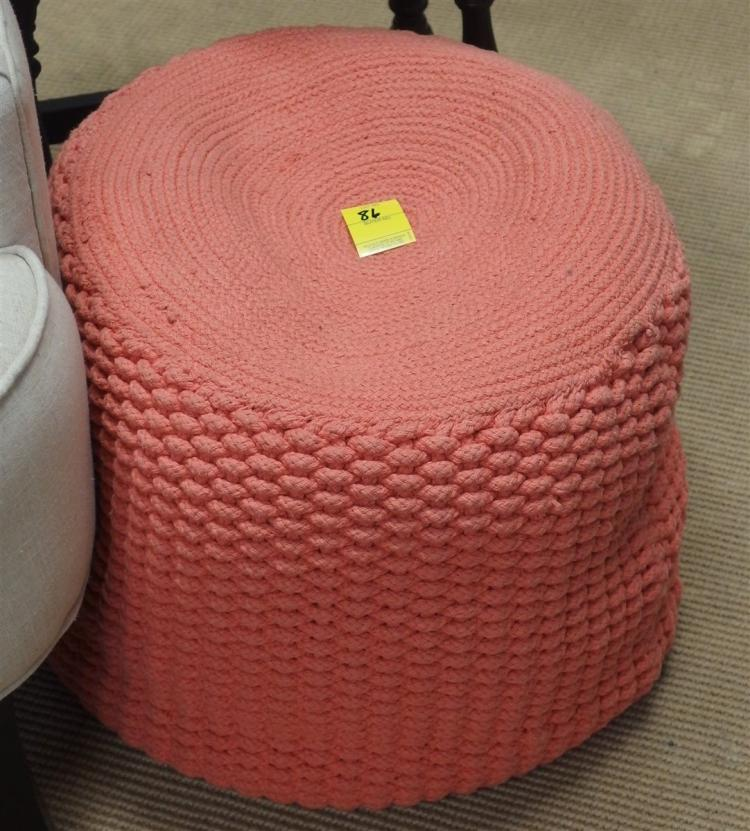 Crocheted Footstool 14H x 19D