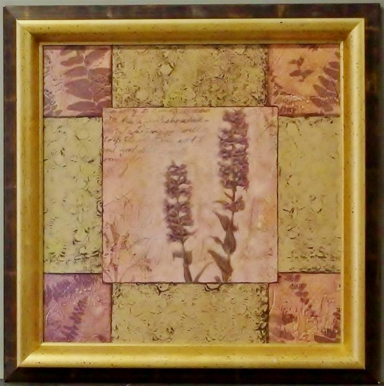 Lot 97: Framed Art on Panel, 26x26 Signed Kimberly