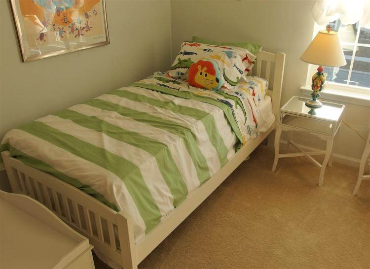 White Twin Bed with New Mattress Set, NEW!