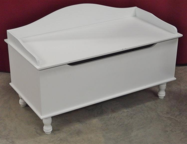 Lot 116: White Toy Chest, 19H x 31W x 16D