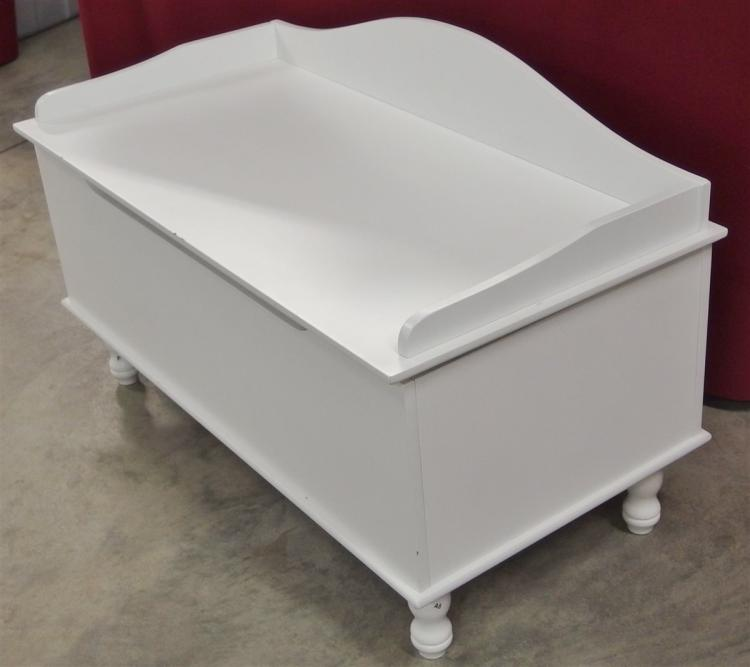 Lot 119: White Toy Chest, 19H x 31W x 16D