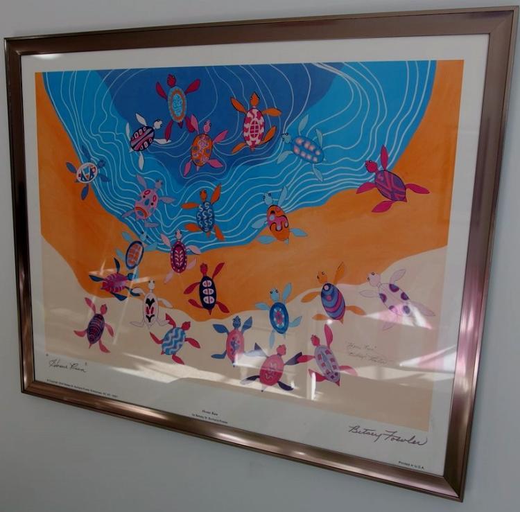 Betsey Fowler, Home Run, Signed Framed Art, 24x30