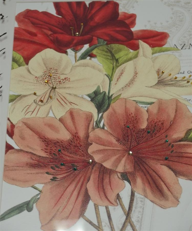 Lot 133: Pair of Floral Prints in Distressed Frame, 18x22