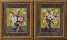 Lot 135: Pair of Floral Framed Prints, 20x24