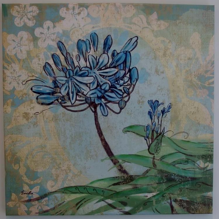 Lot 136: Evelia Signed, Floral – Canvas Prints, 24x24