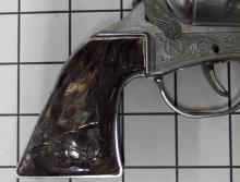 "Lot 2: ROY ROGERS Toy Cap Guns, Plastic Molded Horse Head Grips, 9""L"