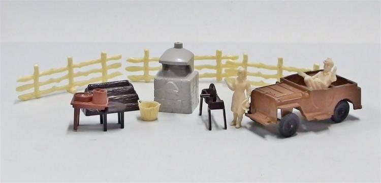 Cast Metal Nellybelle Toy Jeep & Camp Set
