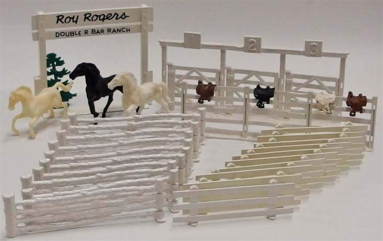 MARX Toy Roy Rogers Double R Bar Ranch Coral & Horses