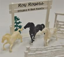 Lot 17: MARX Toy Roy Rogers Double R Bar Ranch Coral & Horses