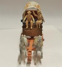 """Lot 18: Roy Rogers Toy Chuckwagon with Roy Rogers & Dale Figures 16""""L"""