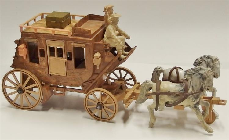 "Roy Rogers Toy Stagecoach with Roy Rogers & Dale Figures, 15""L"