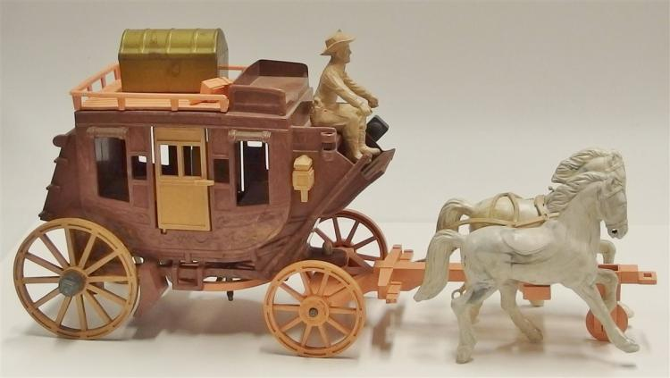 "Roy Rogers Toy Stagecoach with Roy Rogers Figures, 15""L"