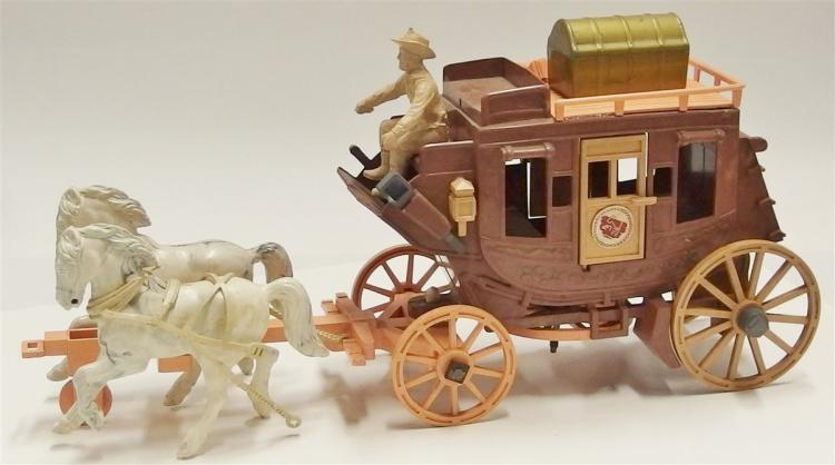 "Lot 20: Roy Rogers Toy Stagecoach with Roy Rogers Figures, 15""L"