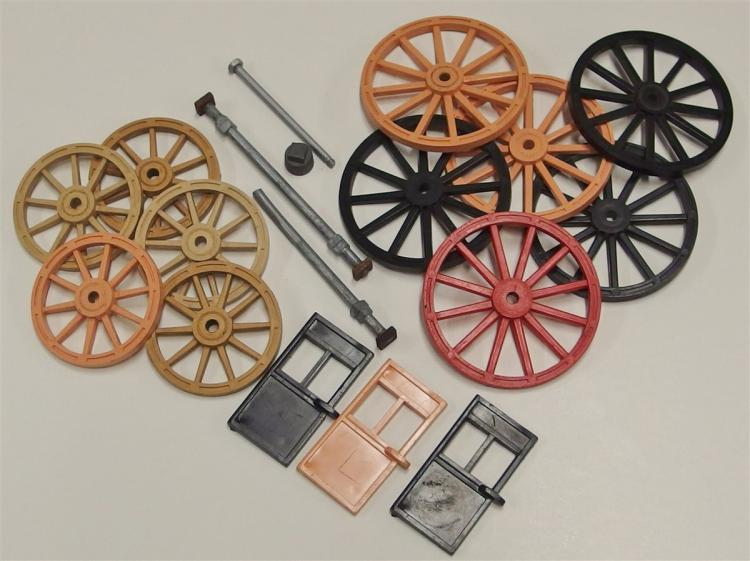 Roy Rogers Toy Stagecoach Parts, wheels, axles, doors