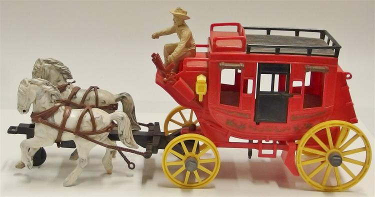 Vintage Ideal Fix-It Alamo Express Roy Rogers Toy Stagecoach Red